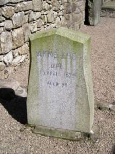 Anne Lee died 15th April, 1874, aged 99.